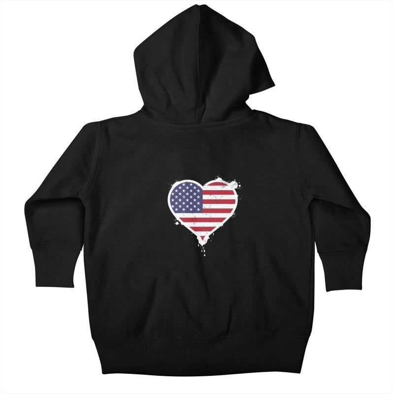 USA Love Kids Baby Zip-Up Hoody by zoljo's Artist Shop