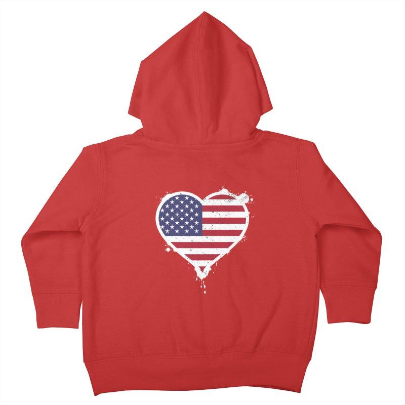 USA Love Kids Toddler Zip-Up Hoody by zoljo's Artist Shop