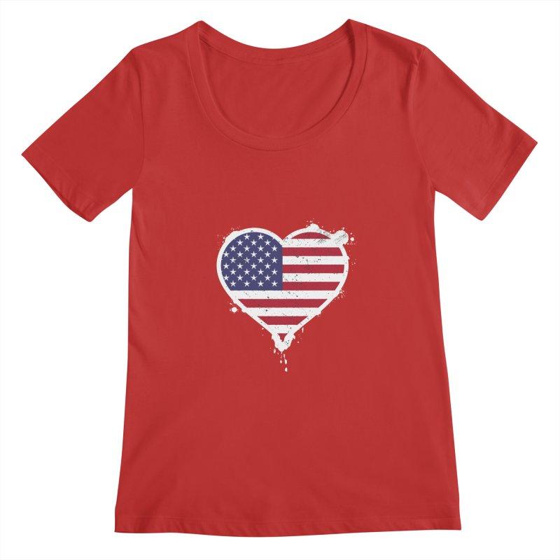 USA Love Women's Scoopneck by zoljo's Artist Shop