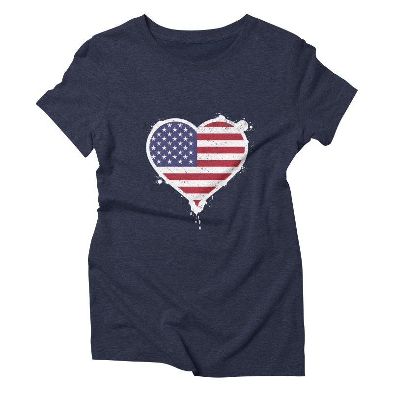 USA Love Women's Triblend T-Shirt by zoljo's Artist Shop