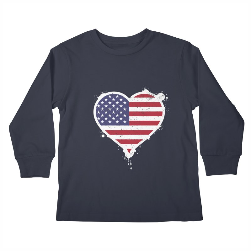 USA Love Kids Longsleeve T-Shirt by zoljo's Artist Shop