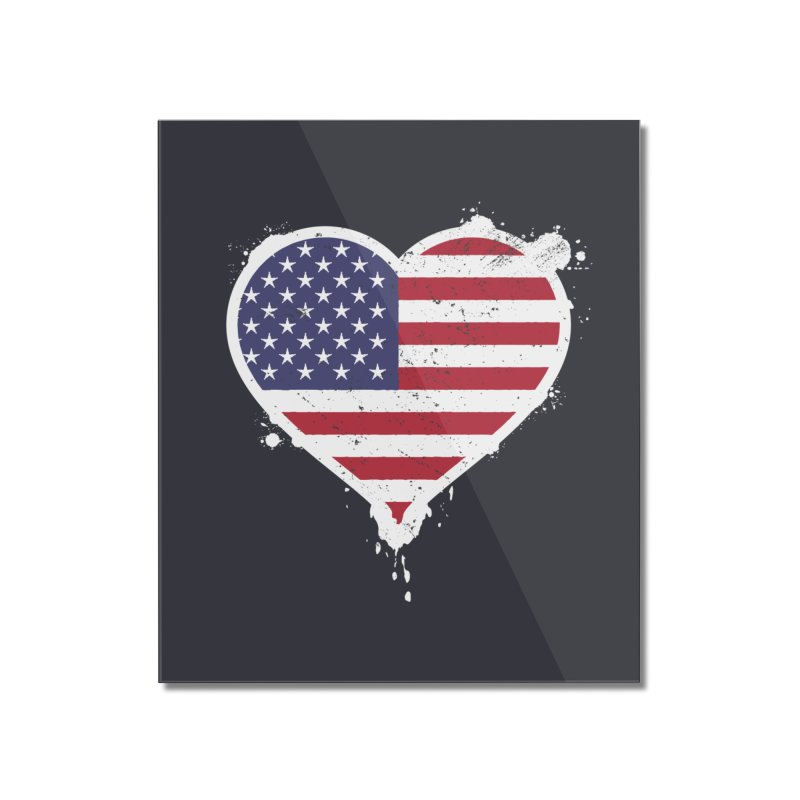 USA Love Home Mounted Acrylic Print by zoljo's Artist Shop
