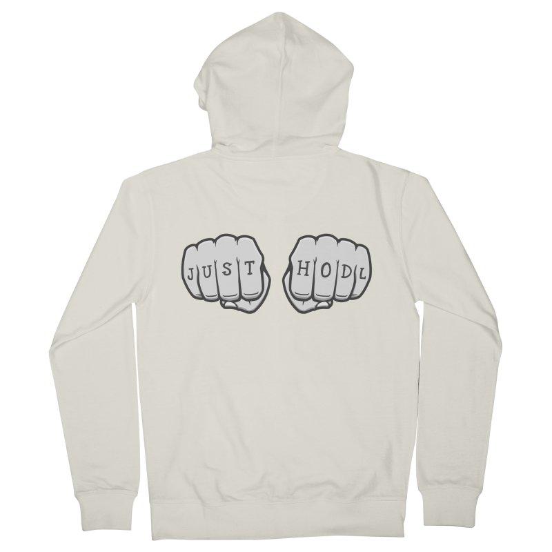 Just Hodl Crypto Men's Zip-Up Hoody by zoljo's Artist Shop