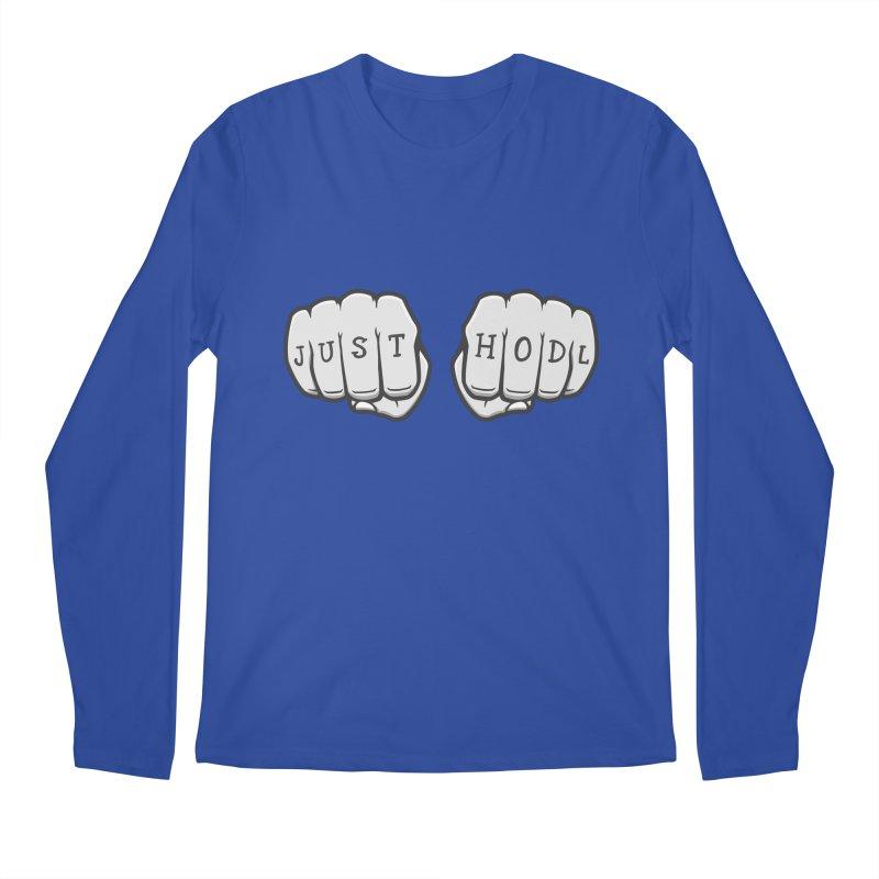 Just Hodl Crypto Men's Longsleeve T-Shirt by zoljo's Artist Shop