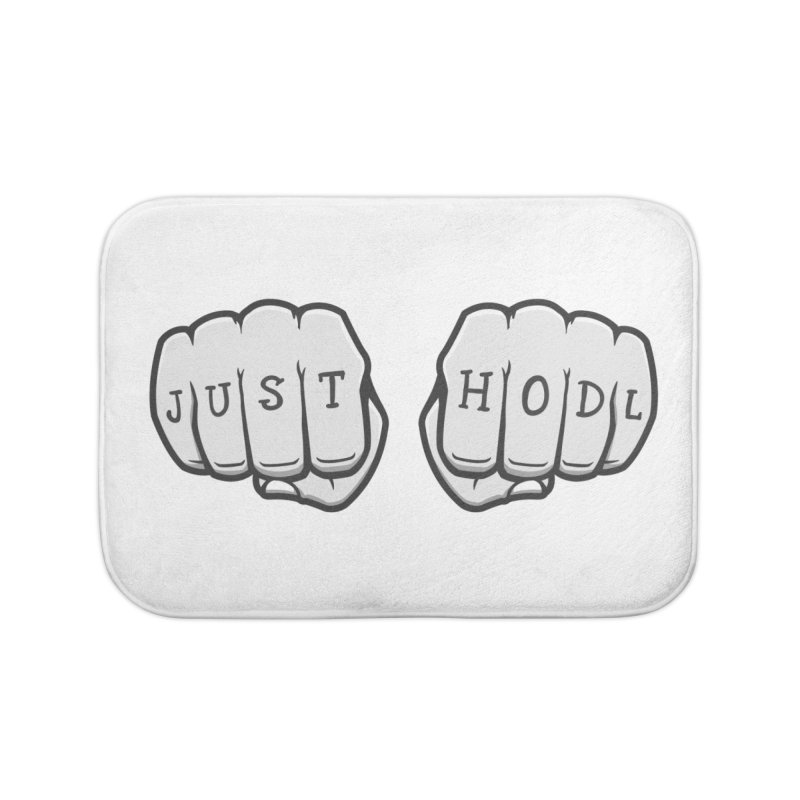 Just Hodl Crypto Home Bath Mat by zoljo's Artist Shop