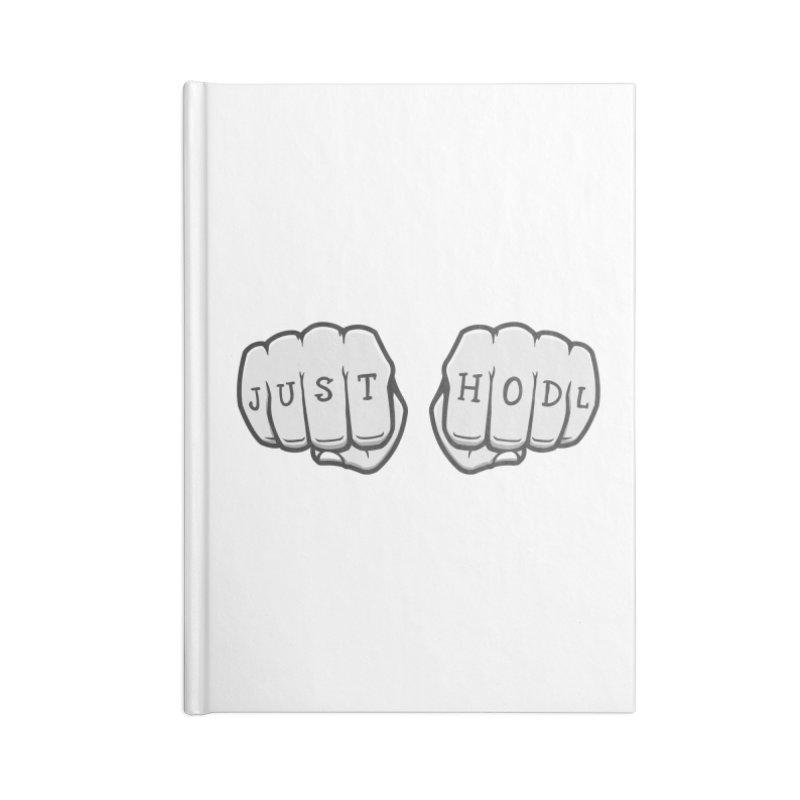 Just Hodl Crypto Accessories Notebook by zoljo's Artist Shop