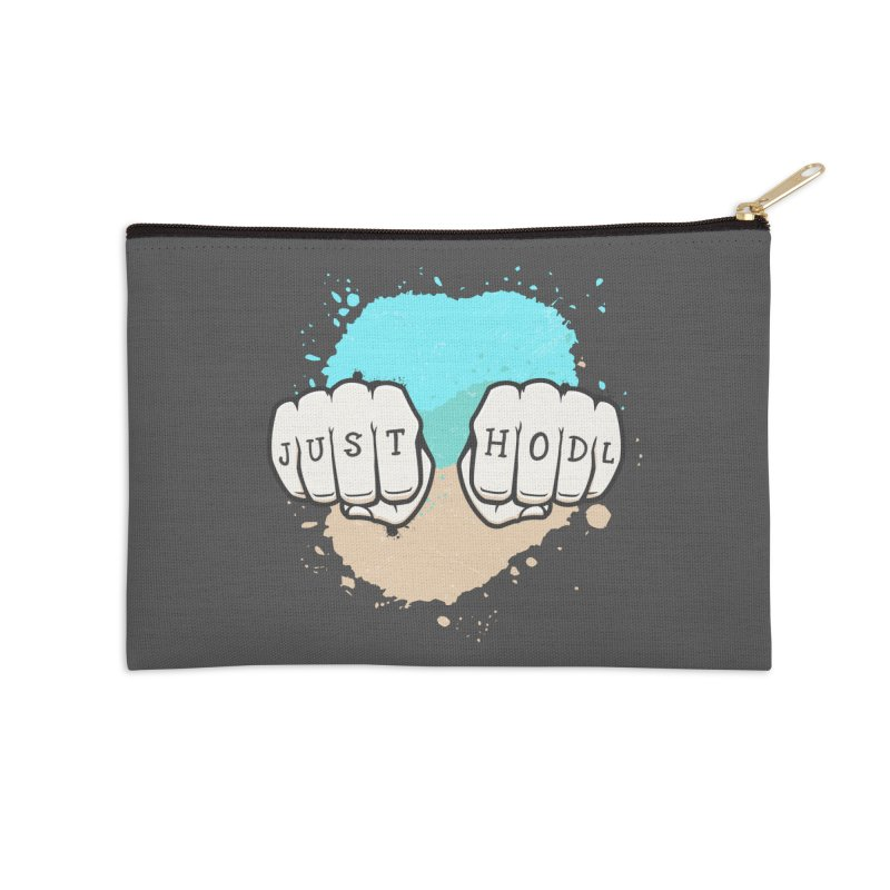 Just Hodl Alternative Version Accessories Zip Pouch by zoljo's Artist Shop
