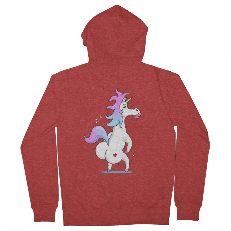 Twerking Unicorn Women's Zip-Up Hoody by zoljo's Artist Shop