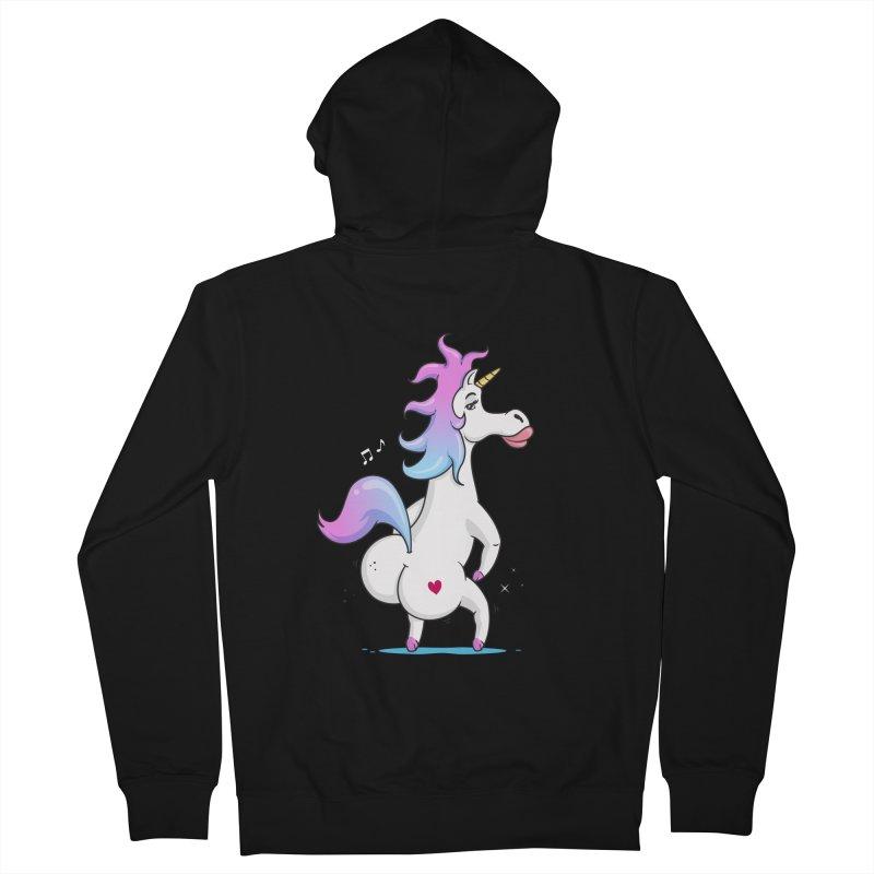 Twerking Unicorn Men's Zip-Up Hoody by zoljo's Artist Shop