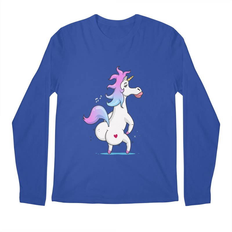 Twerking Unicorn Men's Longsleeve T-Shirt by zoljo's Artist Shop