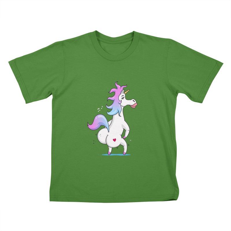 Twerking Unicorn Kids T-Shirt by zoljo's Artist Shop