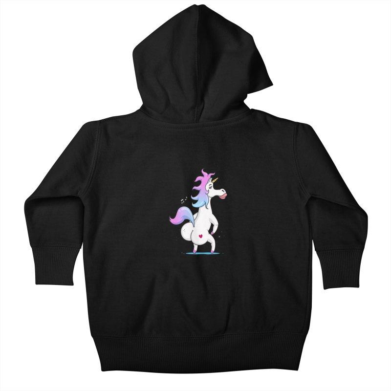 Twerking Unicorn Kids Baby Zip-Up Hoody by zoljo's Artist Shop