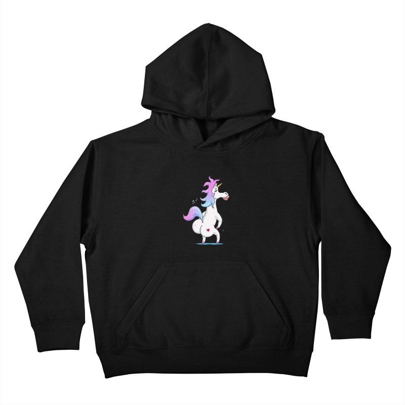 Twerking Unicorn Kids Pullover Hoody by zoljo's Artist Shop