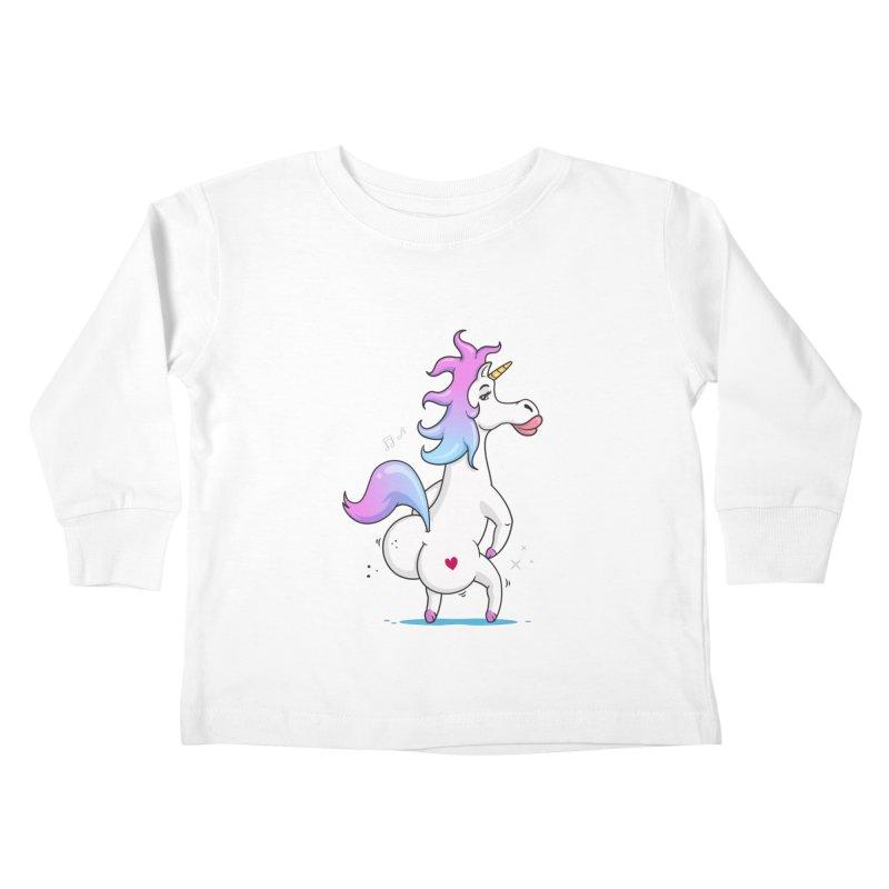 Twerking Unicorn Kids Toddler Longsleeve T-Shirt by zoljo's Artist Shop