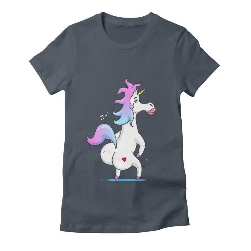 Twerking Unicorn Women's Fitted T-Shirt by zoljo's Artist Shop