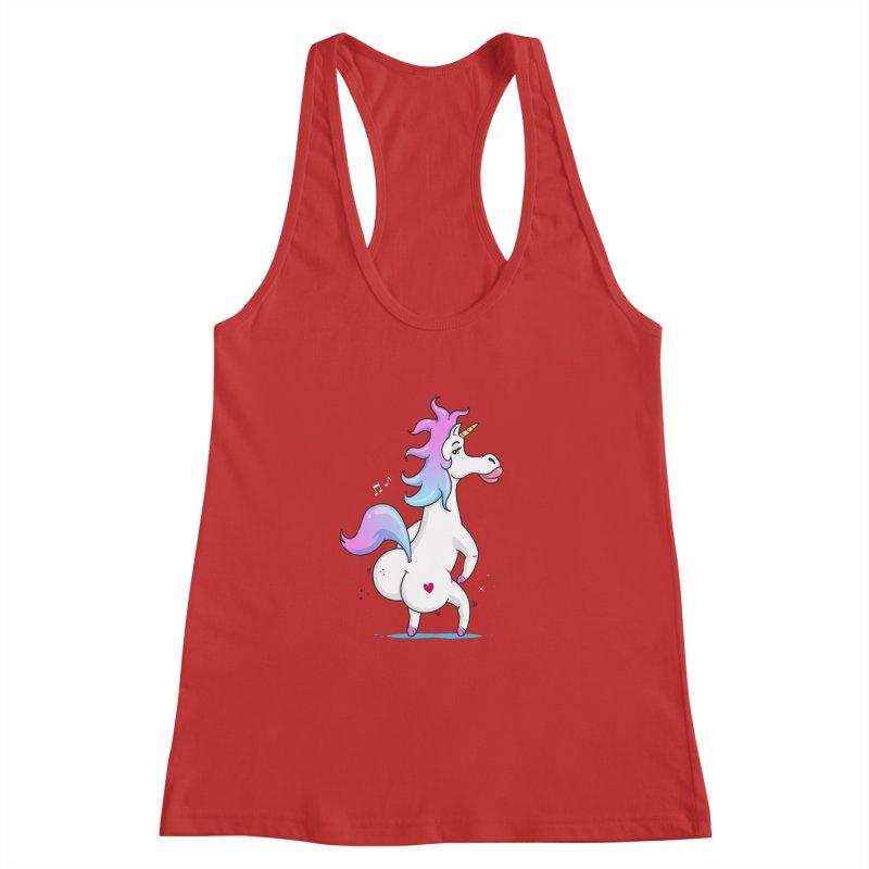 Twerking Unicorn Women's Racerback Tank by zoljo's Artist Shop