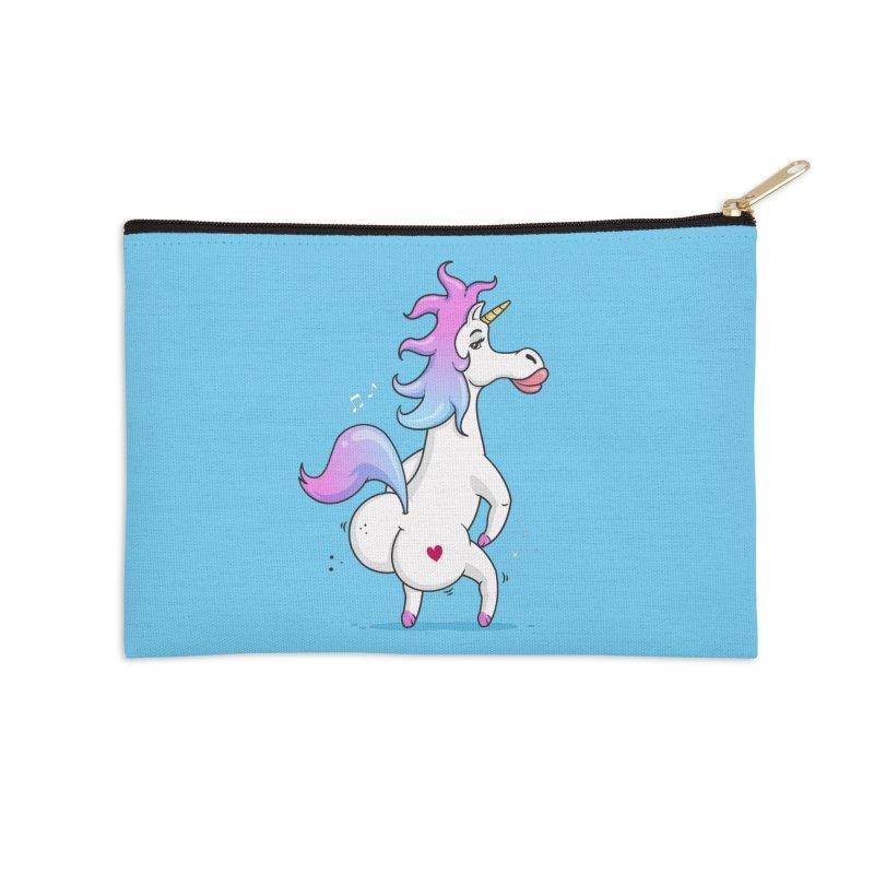 Twerking Unicorn Accessories Zip Pouch by zoljo's Artist Shop