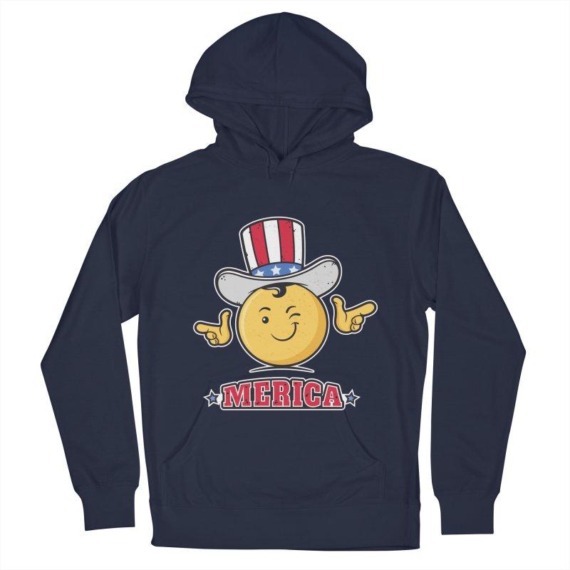 Uncle Sam Smiley Emoticon Merica Men's Pullover Hoody by zoljo's Artist Shop
