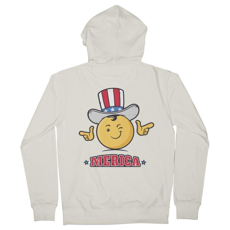 Uncle Sam Smiley Emoticon Merica Women's Zip-Up Hoody by zoljo's Artist Shop