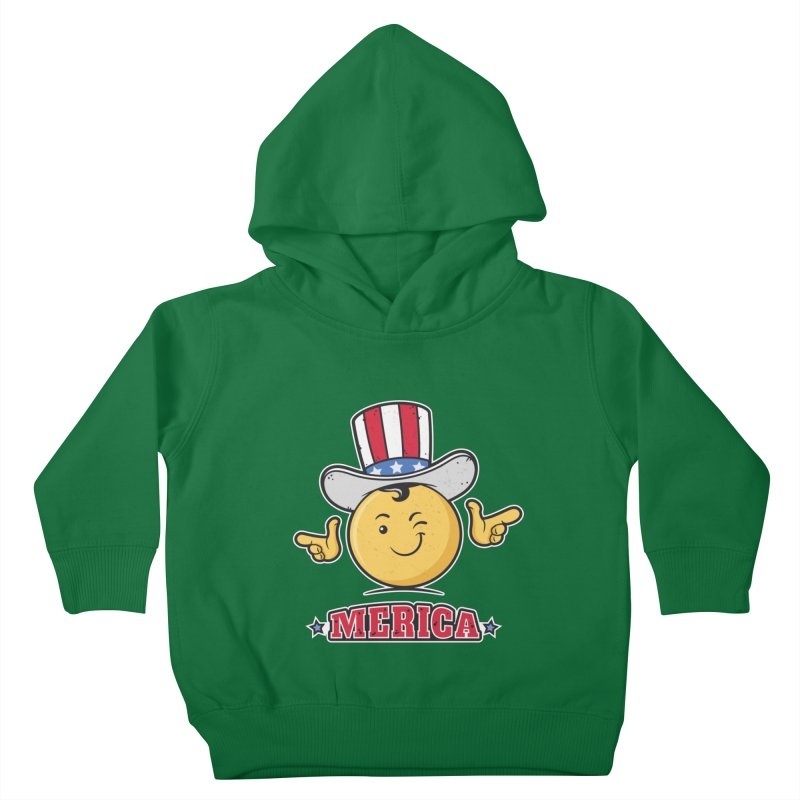 Uncle Sam Smiley Emoticon Merica Kids Toddler Pullover Hoody by zoljo's Artist Shop