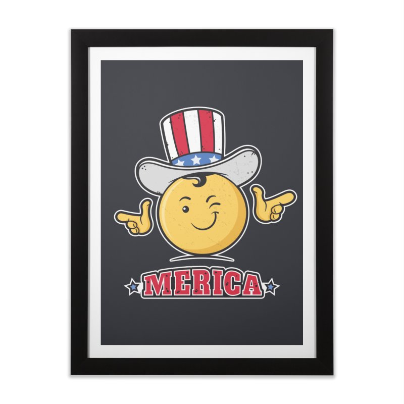 Uncle Sam Smiley Emoticon Merica Home Framed Fine Art Print by zoljo's Artist Shop