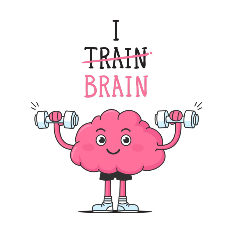 I Train Brain Men's Triblend T-Shirt by zoljo's Artist Shop