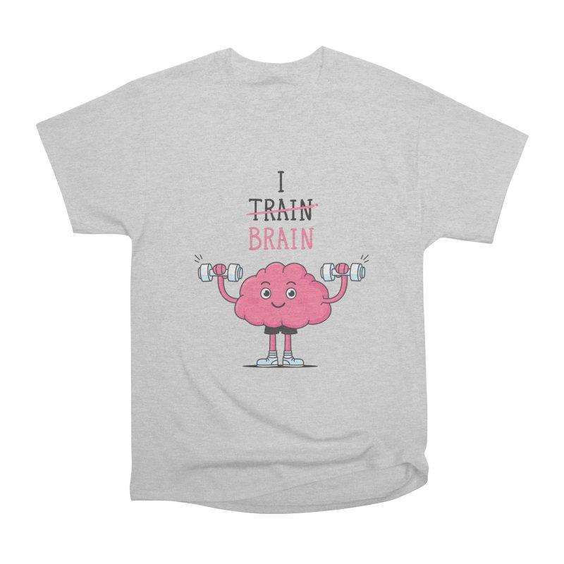 I Train Brain Women's Heavyweight Unisex T-Shirt by zoljo's Artist Shop