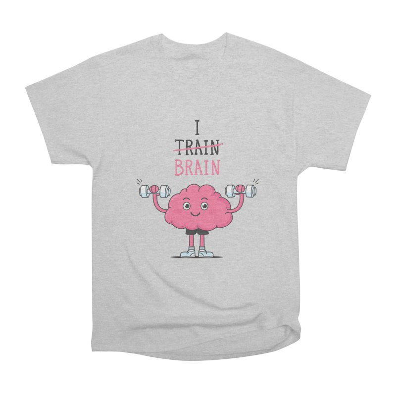 I Train Brain Men's Heavyweight T-Shirt by zoljo's Artist Shop