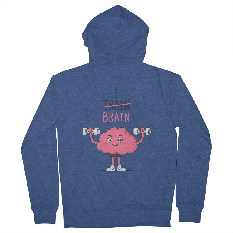 I Train Brain Women's Zip-Up Hoody by zoljo's Artist Shop