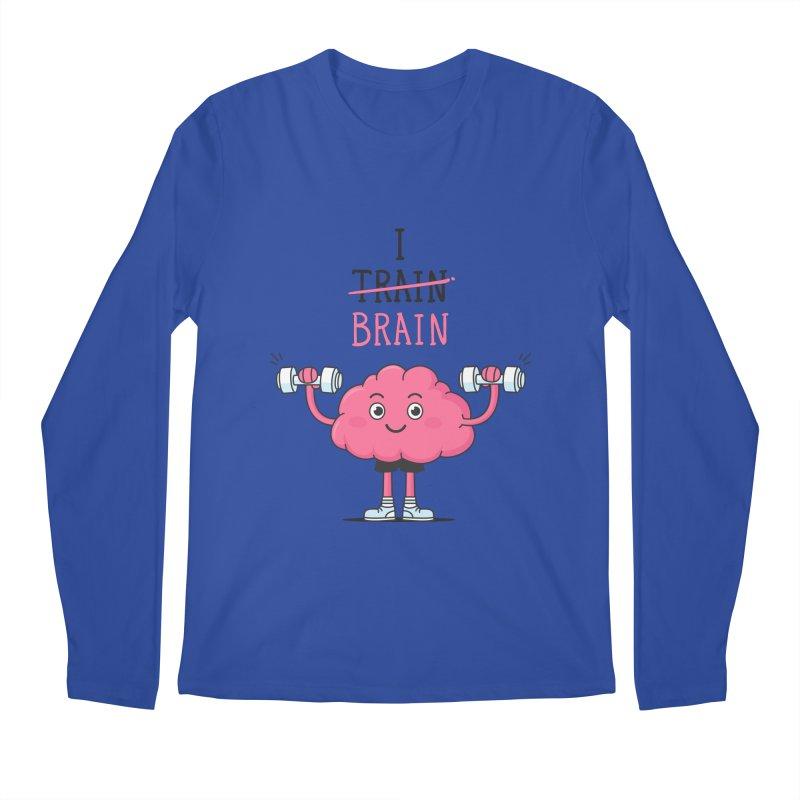 I Train Brain Men's Longsleeve T-Shirt by zoljo's Artist Shop