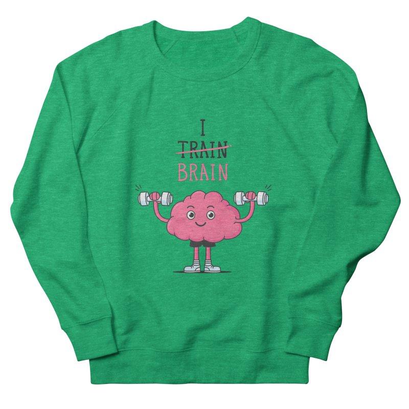 I Train Brain Men's Sweatshirt by zoljo's Artist Shop
