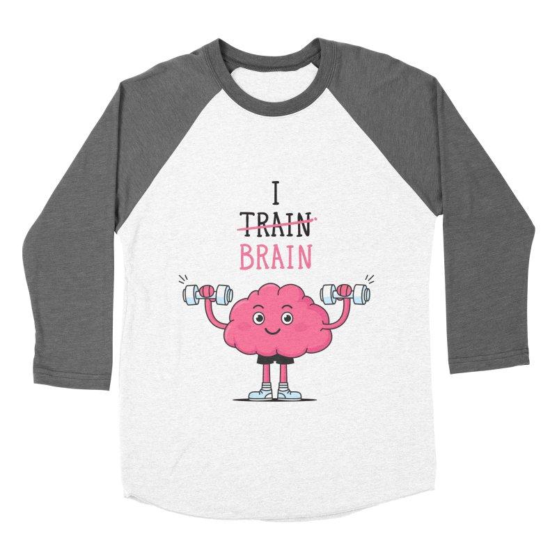 I Train Brain Women's Baseball Triblend T-Shirt by zoljo's Artist Shop