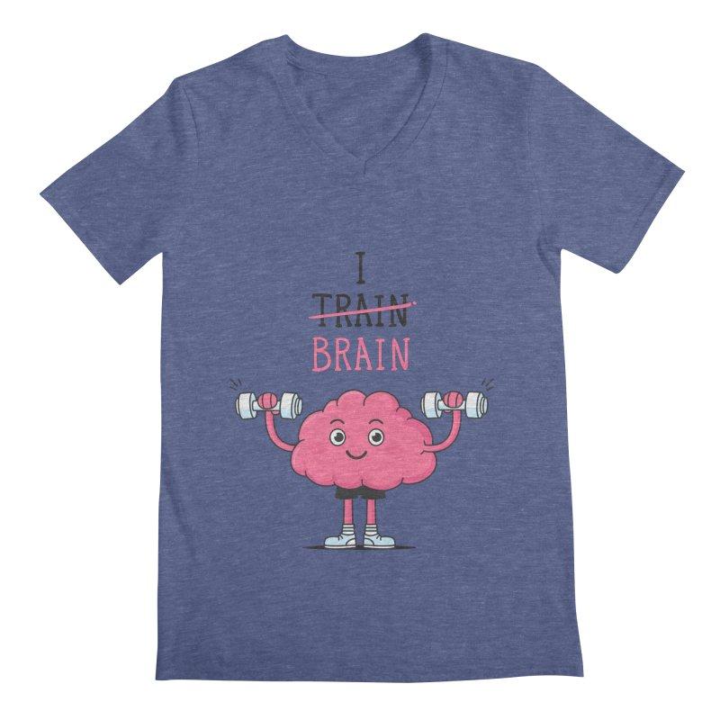 I Train Brain Men's V-Neck by zoljo's Artist Shop