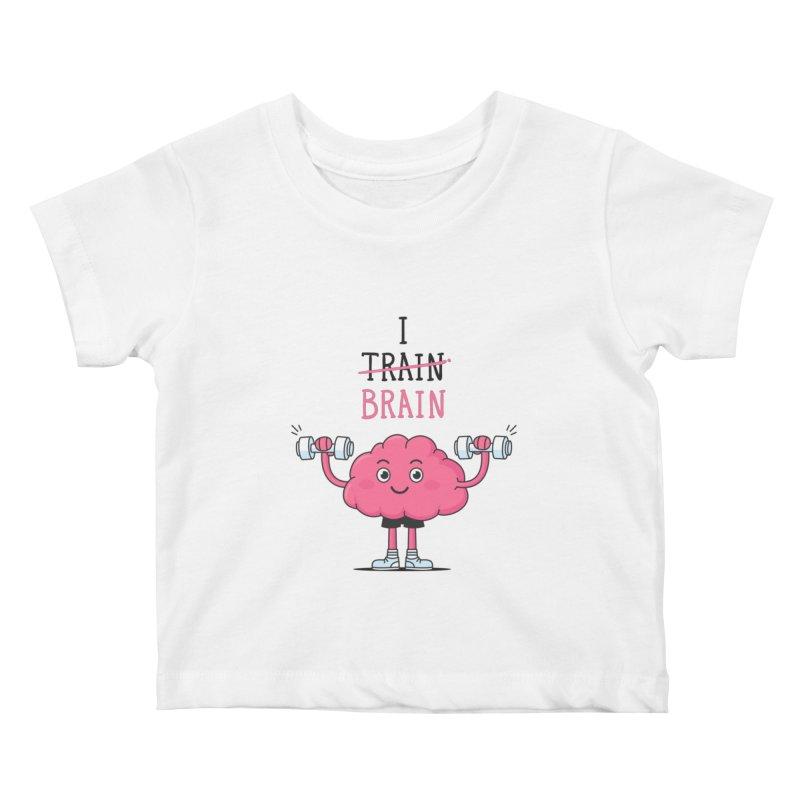 I Train Brain Kids Baby T-Shirt by zoljo's Artist Shop