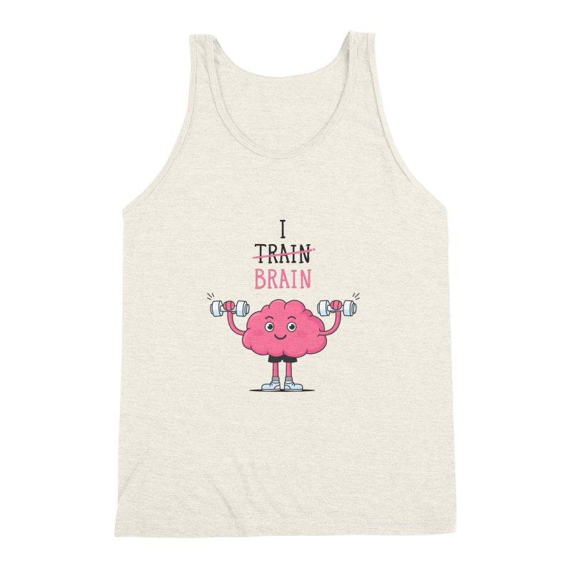 I Train Brain Men's Triblend Tank by zoljo's Artist Shop