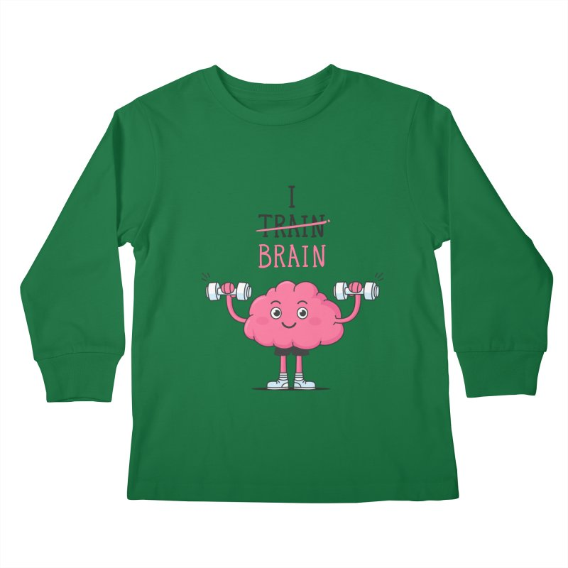 I Train Brain Kids Longsleeve T-Shirt by zoljo's Artist Shop