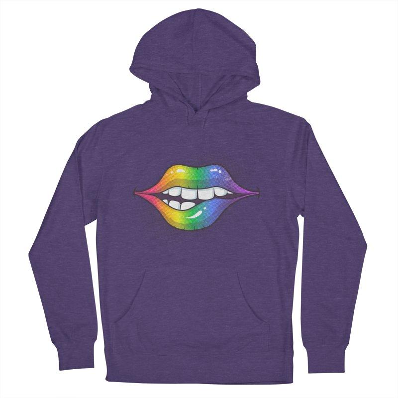 Rainbow Lips Men's Pullover Hoody by zoljo's Artist Shop