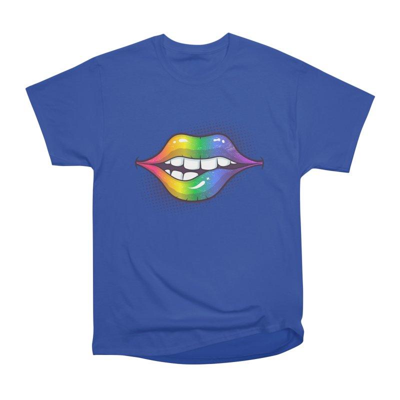 Rainbow Lips Women's Heavyweight Unisex T-Shirt by zoljo's Artist Shop