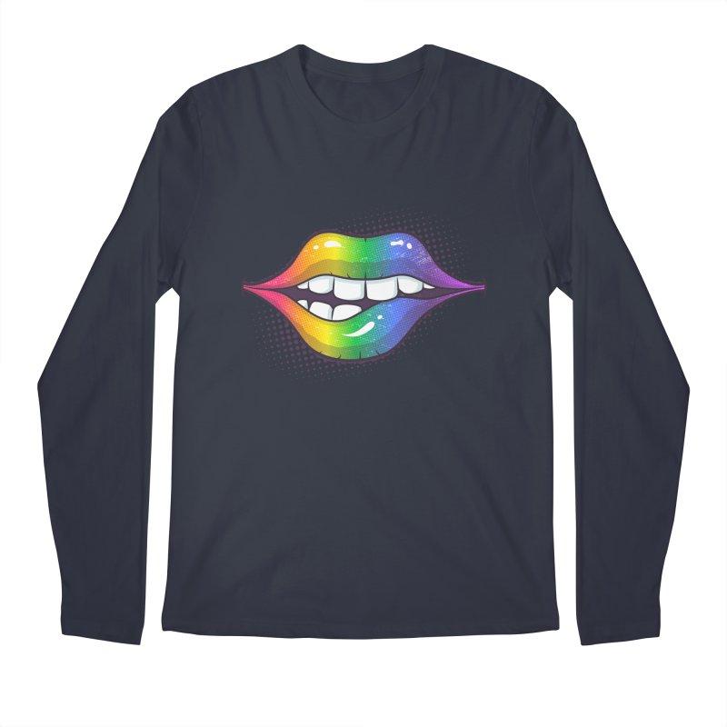 Rainbow Lips Men's Longsleeve T-Shirt by zoljo's Artist Shop