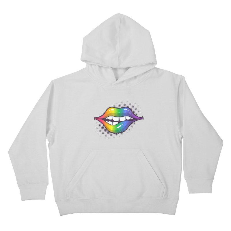 Rainbow Lips Kids Pullover Hoody by zoljo's Artist Shop