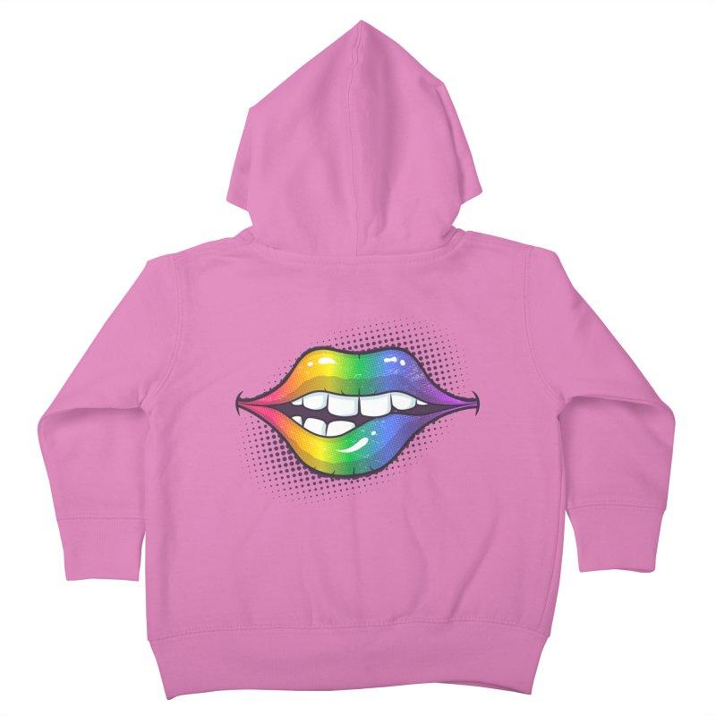 Rainbow Lips Kids Toddler Zip-Up Hoody by zoljo's Artist Shop