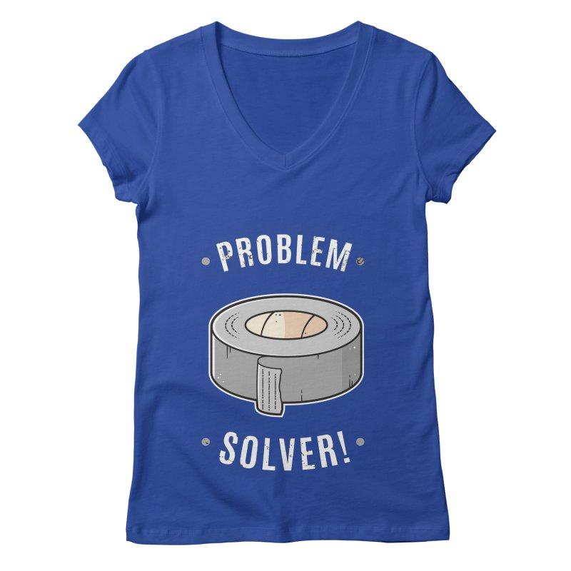 Duct Tape - Problem Solver Women's V-Neck by zoljo's Artist Shop