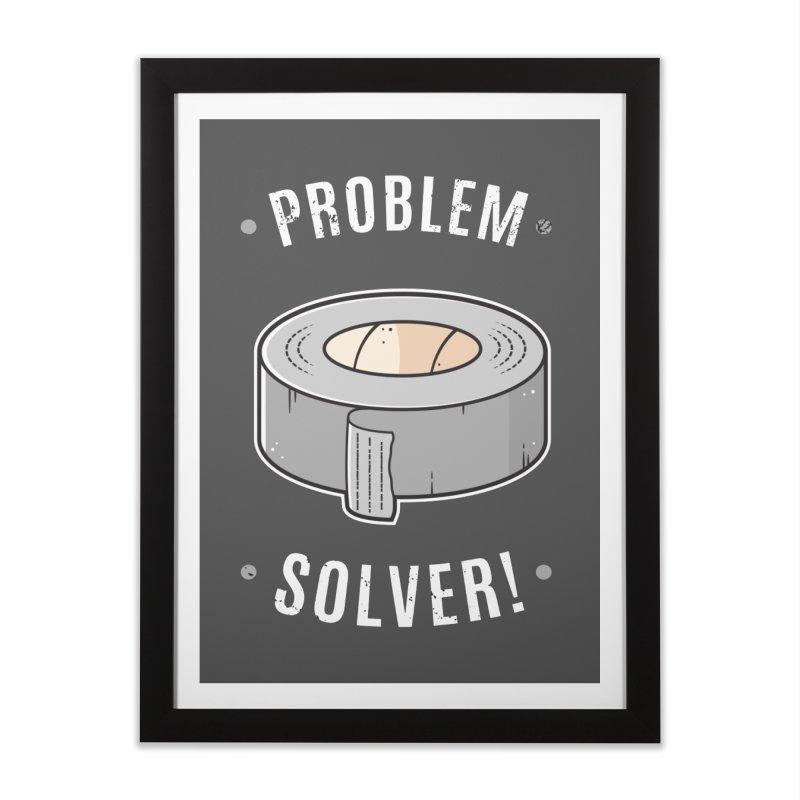 Duct Tape - Problem Solver Home Framed Fine Art Print by zoljo's Artist Shop