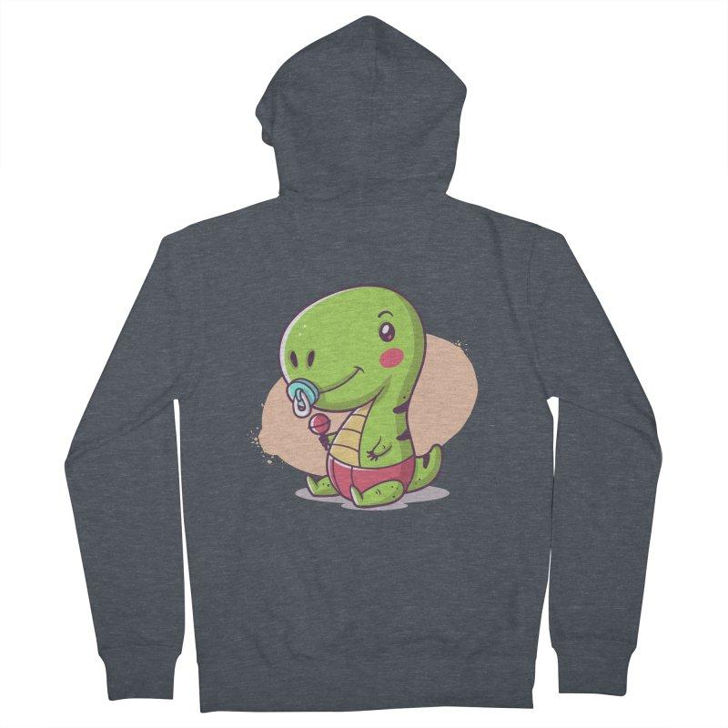 Baby T-Rex Women's Zip-Up Hoody by zoljo's Artist Shop