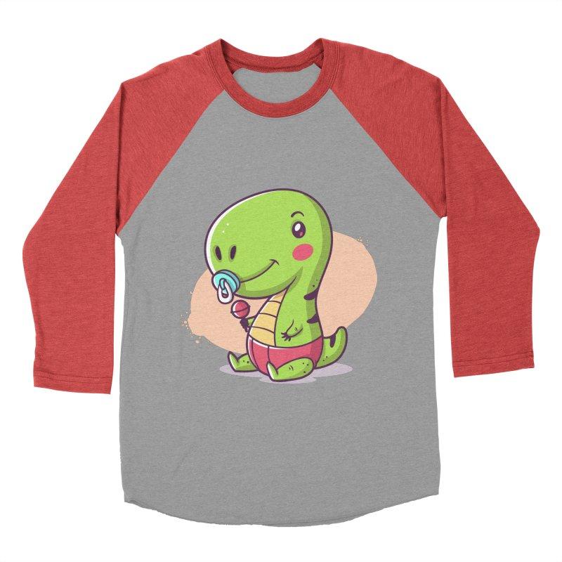 Baby T-Rex Women's Baseball Triblend Longsleeve T-Shirt by zoljo's Artist Shop