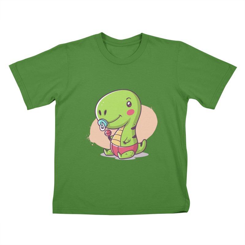 Baby T-Rex Kids T-Shirt by zoljo's Artist Shop