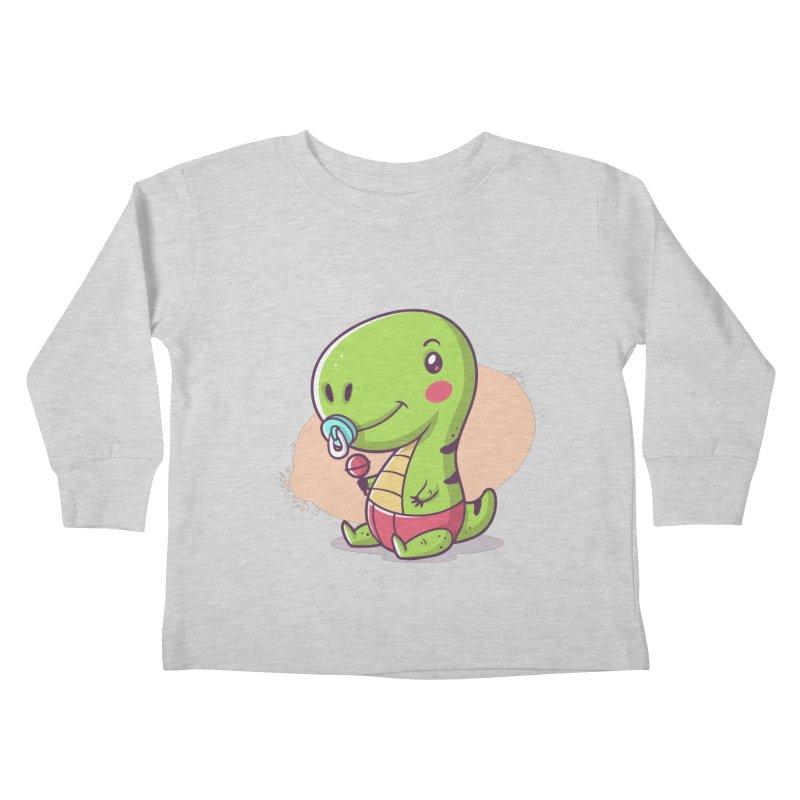 Baby T-Rex Kids Toddler Longsleeve T-Shirt by zoljo's Artist Shop