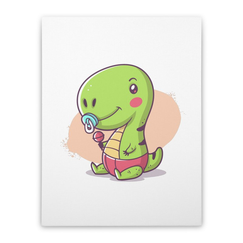 Baby T-Rex Home Stretched Canvas by zoljo's Artist Shop