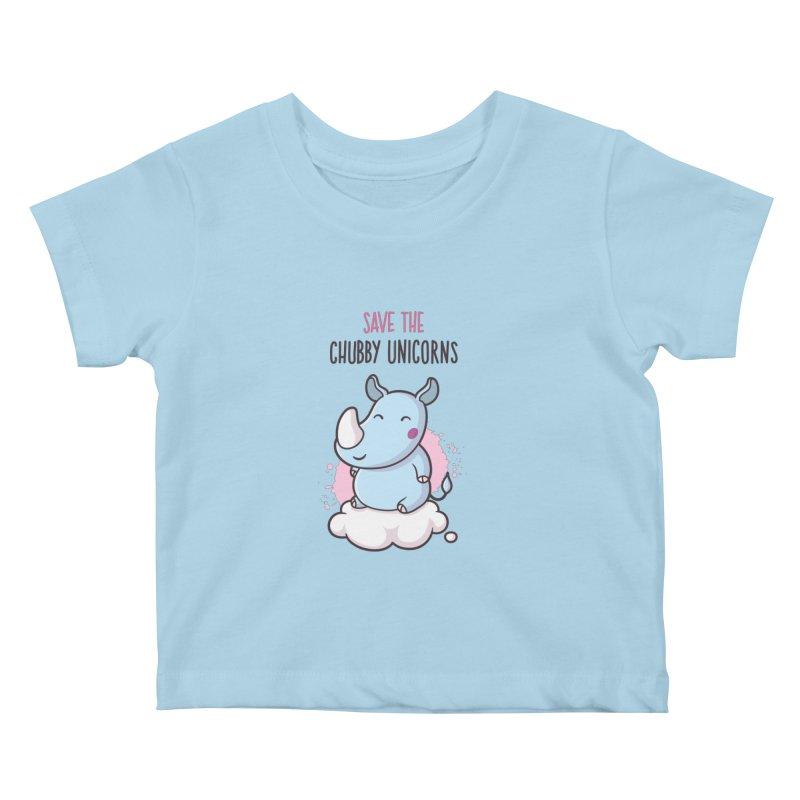 Save The Chubby Unicorns Kids Baby T-Shirt by zoljo's Artist Shop