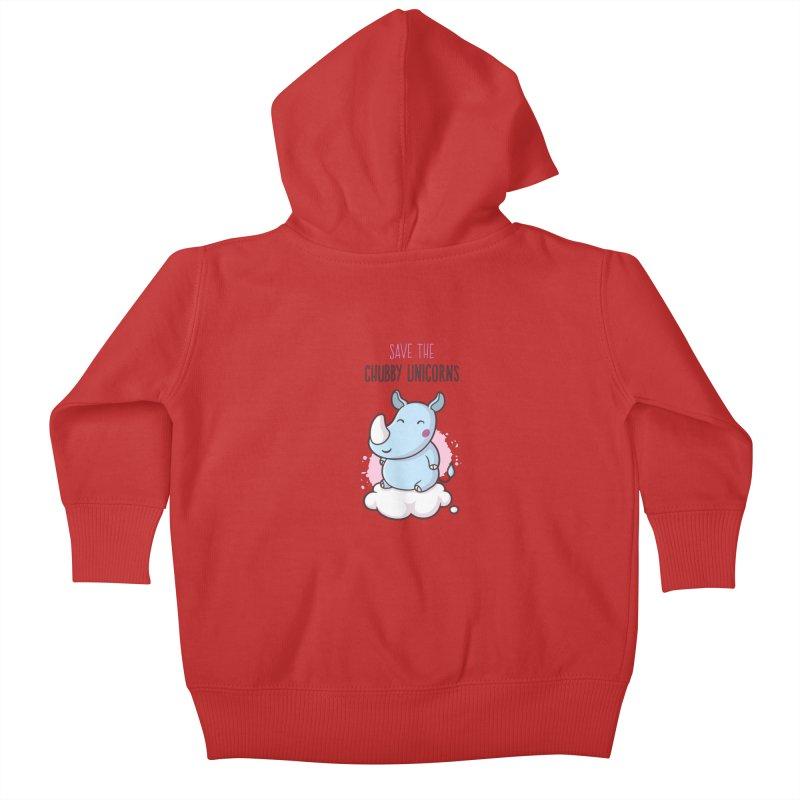Save The Chubby Unicorns Kids Baby Zip-Up Hoody by zoljo's Artist Shop